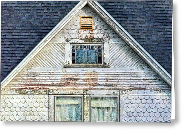 Upstairs Windows in Old House Greeting Card by Jill Battaglia