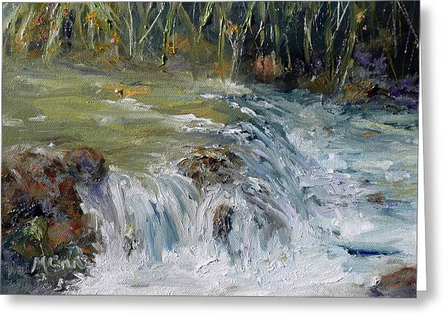 Upstream Greeting Card by Marie Green