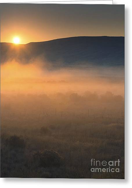 Sagebrush Greeting Cards - Uptanum Dawning Greeting Card by Mike  Dawson