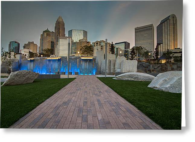 Uptown Charlotte Greeting Card by Serge Skiba