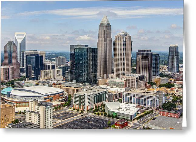Downtown Charlotte Greeting Cards - Uptown Greeting Card by Chris Austin