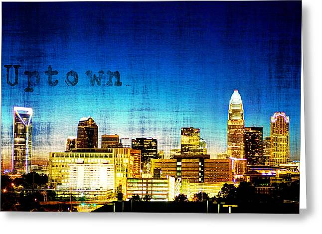 Charlotte Framed Photography Greeting Cards - Uptown Greeting Card by Jennifer Hogan
