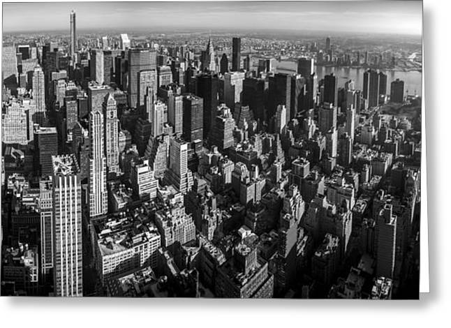 Uptown Manhattan Greeting Card by David Morefield
