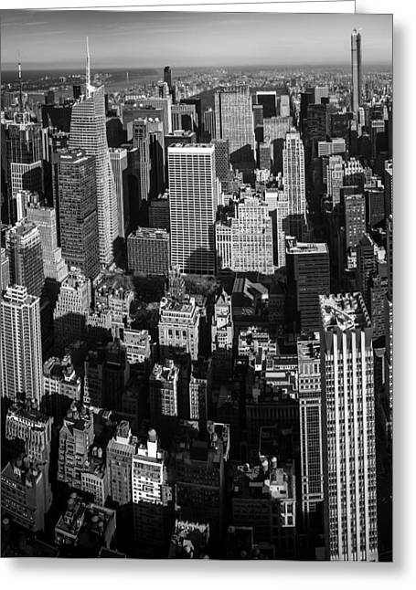 Road Travel Greeting Cards - Uptown Manhattan Triptych Left Greeting Card by David Morefield