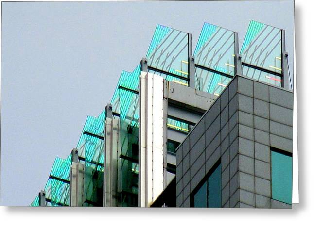 Uptown Rooftop Greeting Card by Randall Weidner