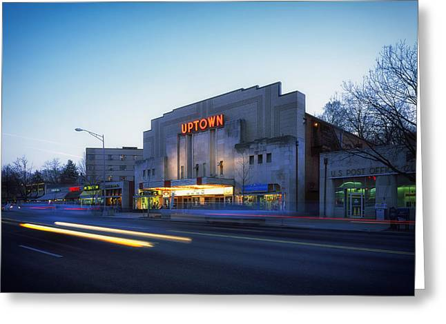 Long Street Greeting Cards - Uptown Theatre in Washington DC Greeting Card by Mountain Dreams