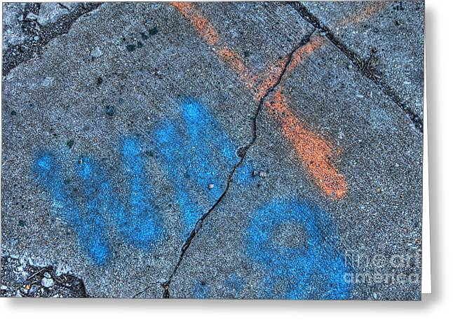 Urban Abstract 3 Greeting Card by Jim Wright