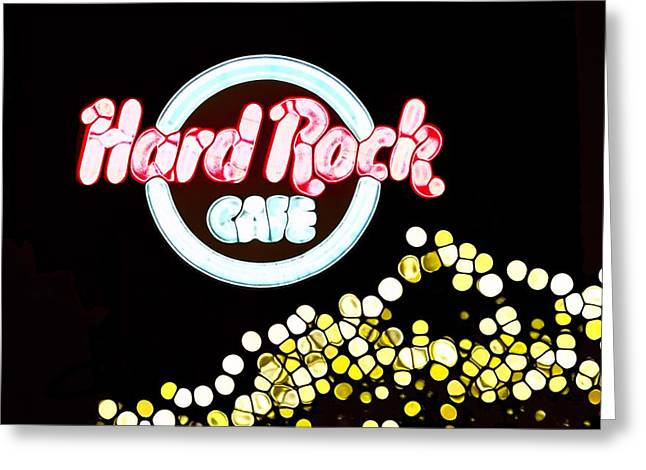 Owner Greeting Cards - Urban Abstract Hard Rock Cafe Greeting Card by Dan Sproul