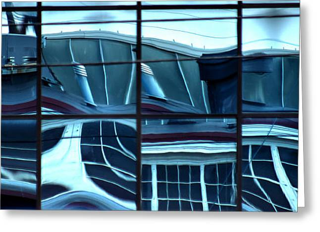 Store Fronts Greeting Cards - Urban Abstract Greeting Card by J M Lister