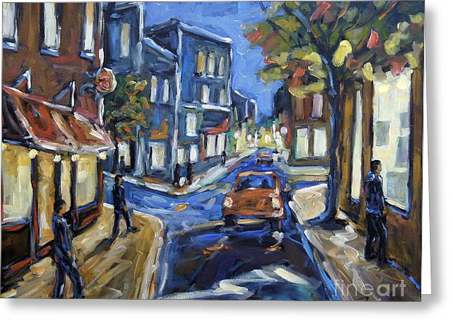 Canadian Rural Scene Created By Richard T Pranke Greeting Cards - Urban Avenue by Prankearts Greeting Card by Richard T Pranke