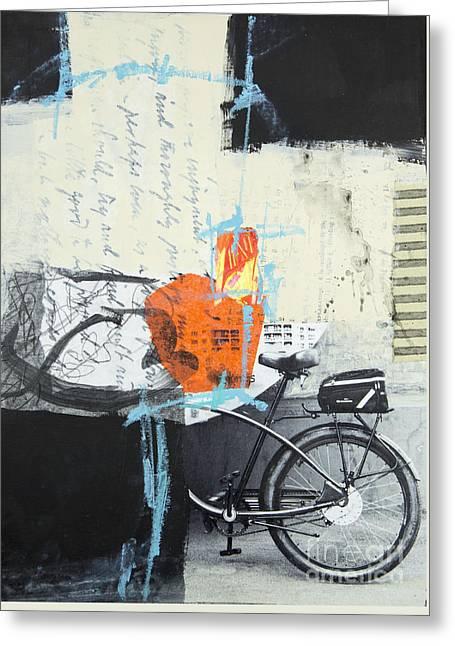 Urban Bicycle Greeting Card by Elena Nosyreva