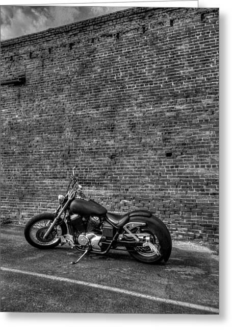 Chopper Greeting Cards - Urban Bike 002 Greeting Card by Lance Vaughn
