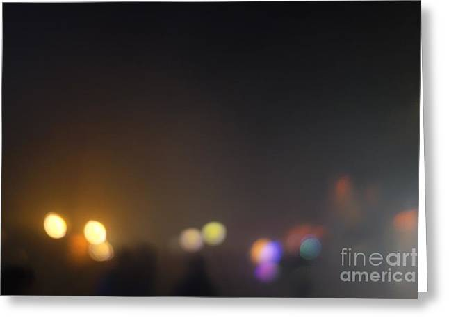 Solstice Greeting Cards Greeting Cards - Urban Bokeh Greeting Card by Jacqueline Athmann