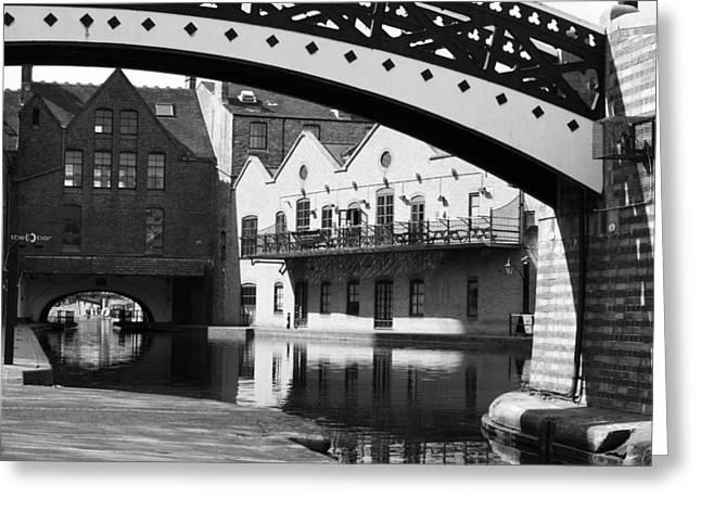 Hogan Bridge Greeting Cards - Birmingham Canal - ref 4412 Greeting Card by Colin Hogan