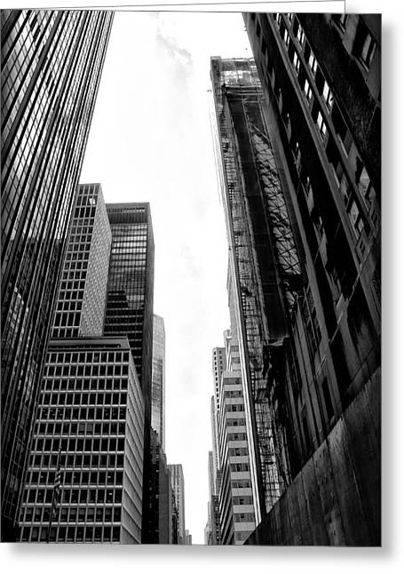 Urban Canyon Greeting Cards - Urban Canyon - New York City Greeting Card by Bill Cannon