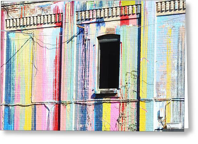 Juvenile Wall Decor Greeting Cards - Urban Color Greeting Card by AdSpice Studios
