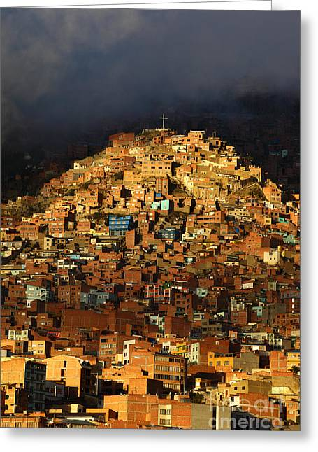La Paz Greeting Cards - Urban Cross 1 Greeting Card by James Brunker