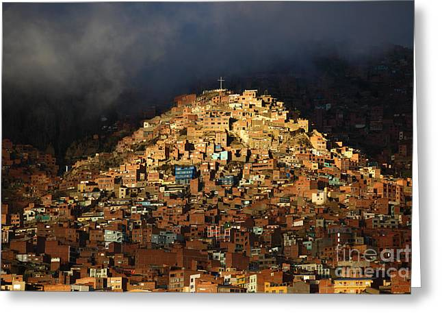 La Paz Greeting Cards - Urban Cross 2 Greeting Card by James Brunker