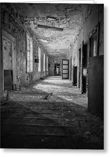 Asylum Greeting Cards - Urban Decay Greeting Card by Erik Brede
