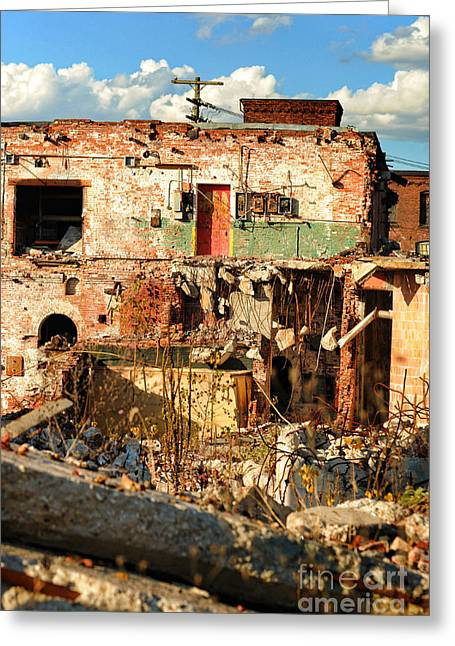 Old Mills Photographs Greeting Cards - Urban Decay Greeting Card by HD Connelly