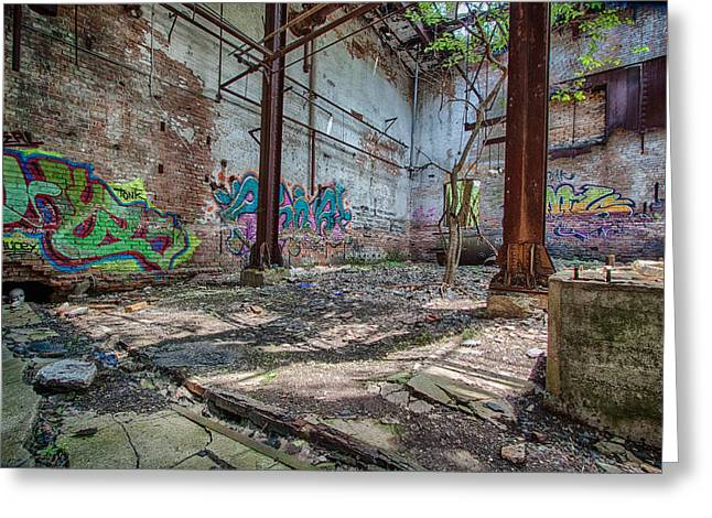 Run Down Greeting Cards - Urban Decay Greeting Card by Mike Burgquist