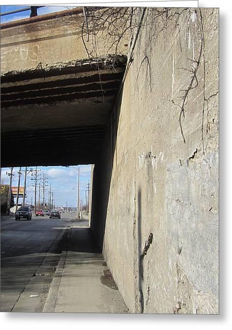 Concrete Bridge Greeting Cards - Urban Decay Train Bridge 2 Greeting Card by Anita Burgermeister