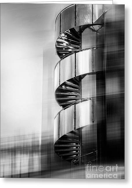 Metall Greeting Cards - Urban Drill - C - Bw Greeting Card by Hannes Cmarits