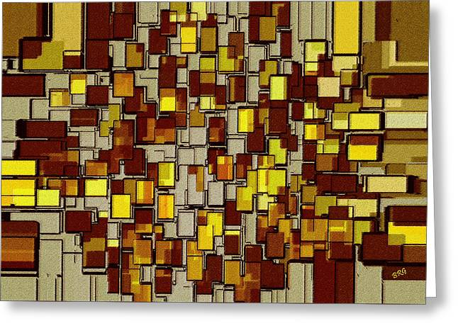 Beige Abstract Greeting Cards - Urban Dwellings No 2 Greeting Card by Ben and Raisa Gertsberg