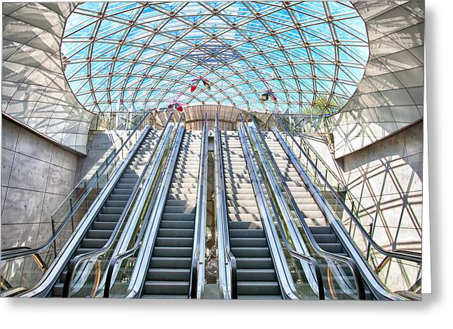 Malmo Greeting Cards - Urban Escalators Greeting Card by Antony McAulay