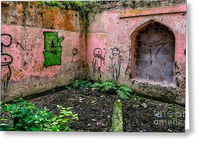 Spray Paint Art Greeting Cards - Urban Exploration Greeting Card by Adrian Evans