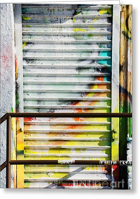 Spray Can Greeting Cards - Urban Graffiti Gates Greeting Card by ArtyZen Studios - ArtyZen Home