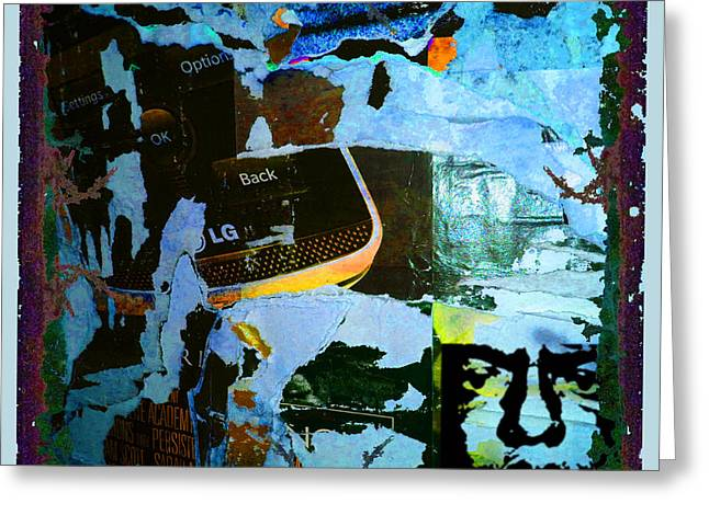 Chip Mixed Media Greeting Cards - Urban Graffiti Abstract 2 Greeting Card by Tony Rubino