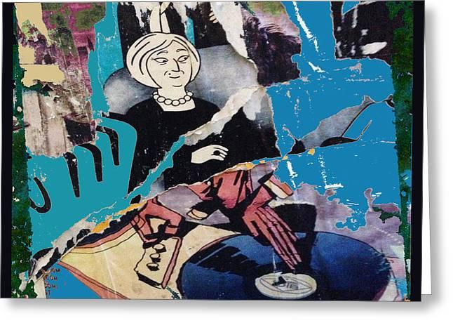 Reality Mixed Media Greeting Cards - Urban Graffiti Abstract 3 Greeting Card by Tony Rubino