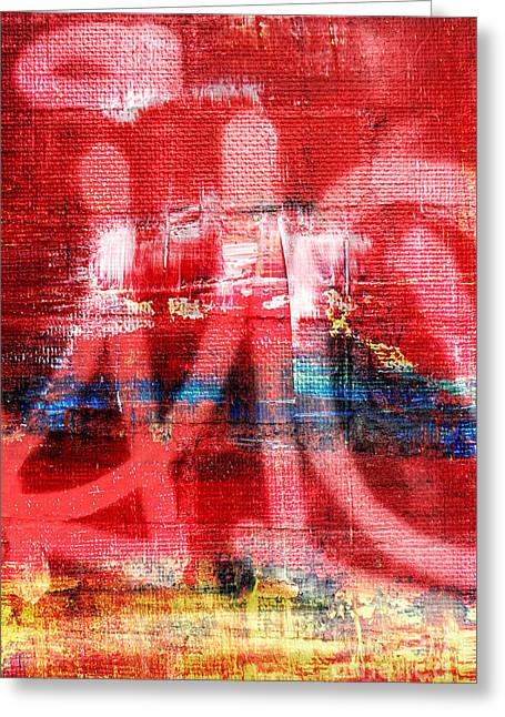 Concord Greeting Cards - Urban Graffiti Abstract Color Greeting Card by Edward Fielding