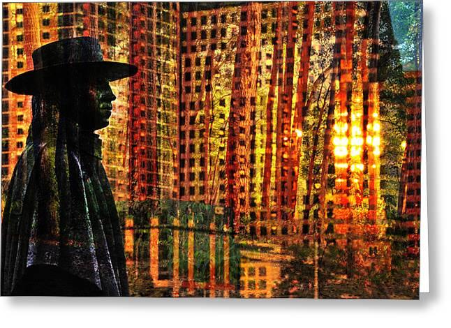 Stevie Ray Vaughn Greeting Cards - Urban Guru Greeting Card by Skip Hunt