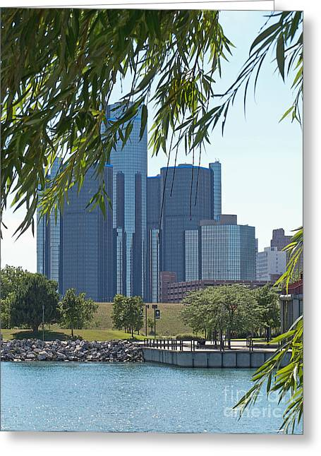 Rencen Greeting Cards - Urban Juxtaposition Greeting Card by Ann Horn