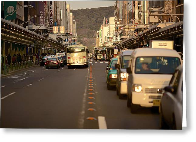 """""""japan City"""" Greeting Cards - Urban Life Greeting Card by Mountain Dreams"""