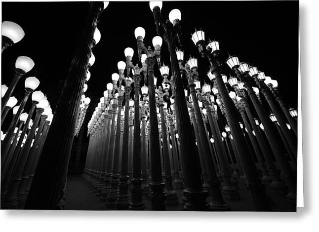 Art Installation Greeting Cards - Urban Lights       Greeting Card by Art K