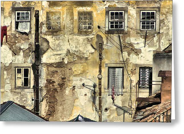 David Letts Greeting Cards - Urban Lisbon Greeting Card by David Letts
