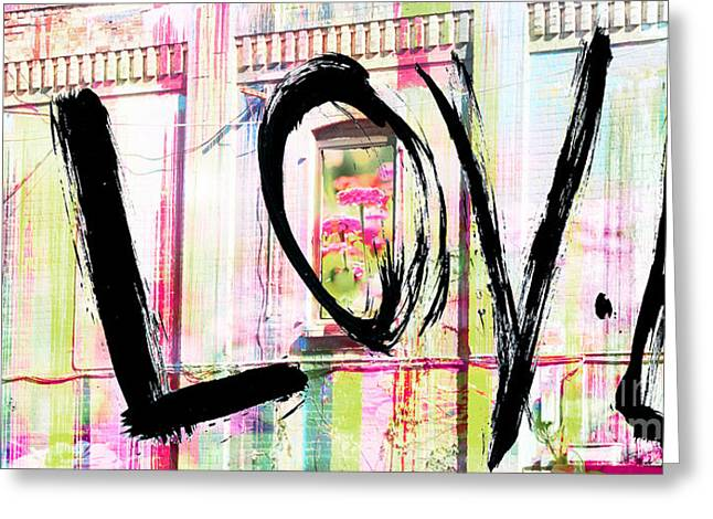 Couer Greeting Cards - Urban Love Letters Greeting Card by AdSpice Studios