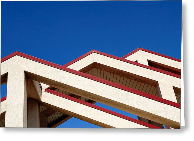 Ultra Modern Photographs Greeting Cards - Urban Mountains Greeting Card by Steven Milner