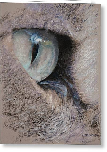 Fur Pastels Greeting Cards - Urban Predators Eye Greeting Card by Christopher Reid