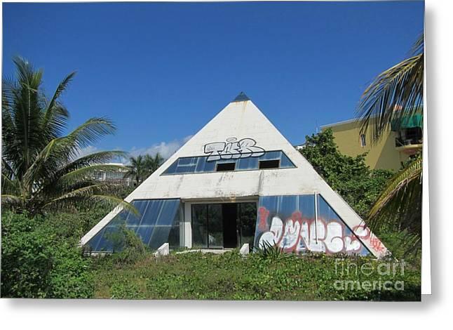 Pyramids Greeting Cards - Urban Ruins of a Pyramid Greeting Card by John Malone