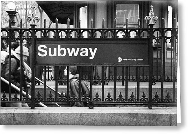 Klimis Greeting Cards - Urban Subway Greeting Card by Emmanouil Klimis