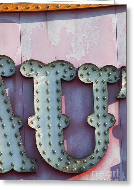 Self Love Greeting Cards - Letters in Lights - Amusement Park Urban Typography Wall Art U YOU Greeting Card by ArtyZen Studios - ArtyZen Home