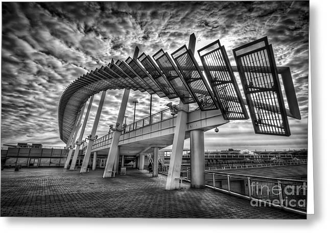 Ferry Building Greeting Cards - Urbanator  Greeting Card by Evelina Kremsdorf