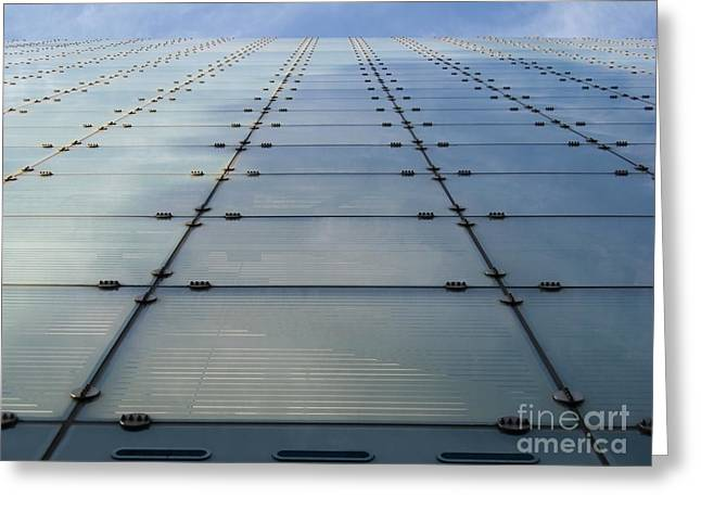 Glass Facade Greeting Cards - Urbis Building Facade in Manchester Greeting Card by Kiril Stanchev