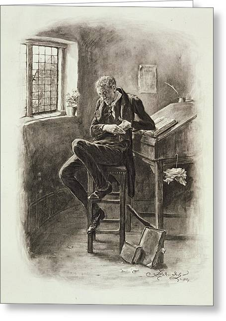 Clerk Greeting Cards - Uriah Heep, From Charles Dickens A Greeting Card by Frederick Barnard