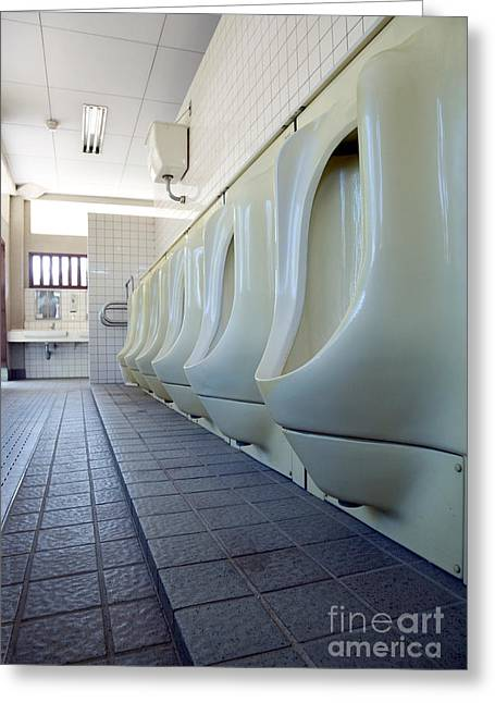 Urinal Greeting Cards - Urinals Greeting Card by Oote Boe