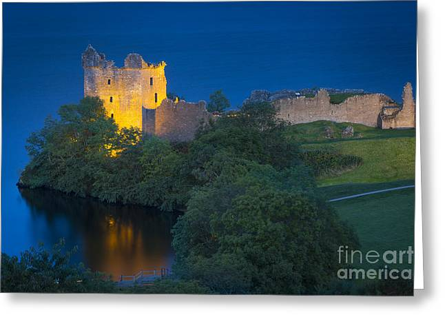 Historic Site Greeting Cards - Urquhart Castle - Loch Ness Greeting Card by Brian Jannsen